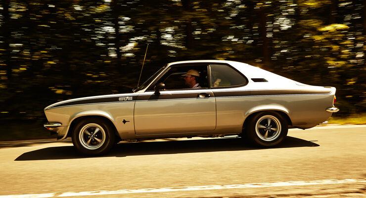 Opel Manta A, Seitenansicht