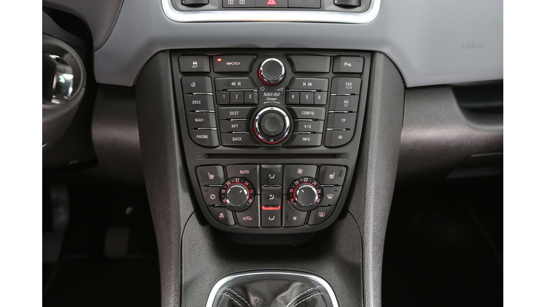 Opel Meriva 1.4 Innovation, Mittelkonsole