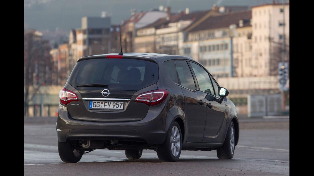 Opel Meriva 1.4 ecoFlex, Heckansicht