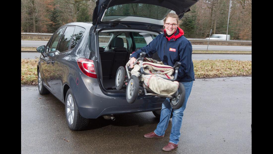Opel Meriva 1.4 ecoFlex, Kofferraum, Beladen