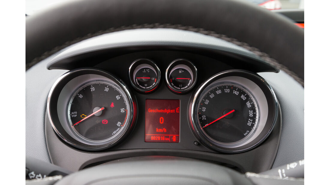 Opel Meriva 1.6 CDTI, Rundinstrumente