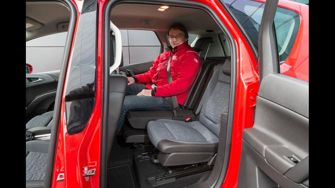 Opel Meriva 1.6 CDTi, Fondsitz, Beinfreiheit
