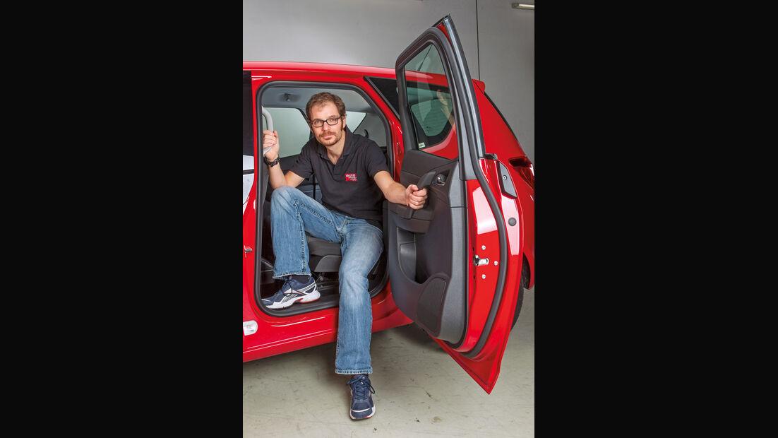 Opel Meriva, Aussteigen, Rücksitz