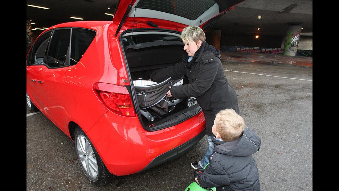 Opel Meriva, Kofferraum