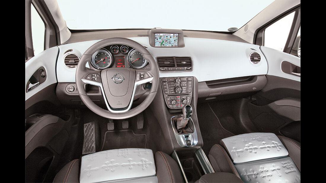 Opel Meriva, Lenkrad, Cockpit