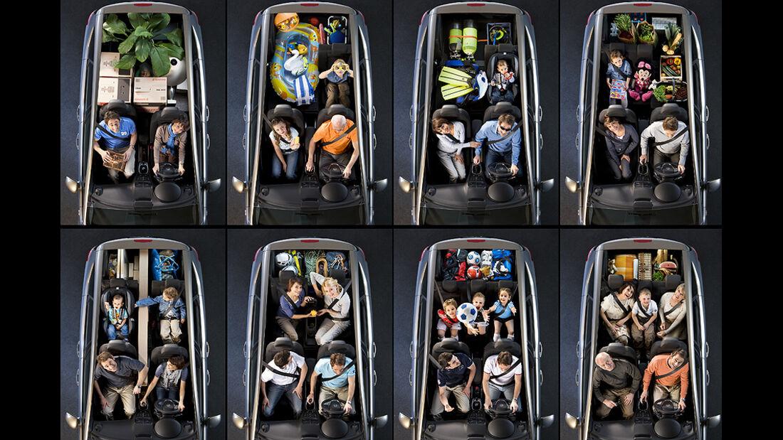 Opel Meriva, Platzangebot, Aufteilung