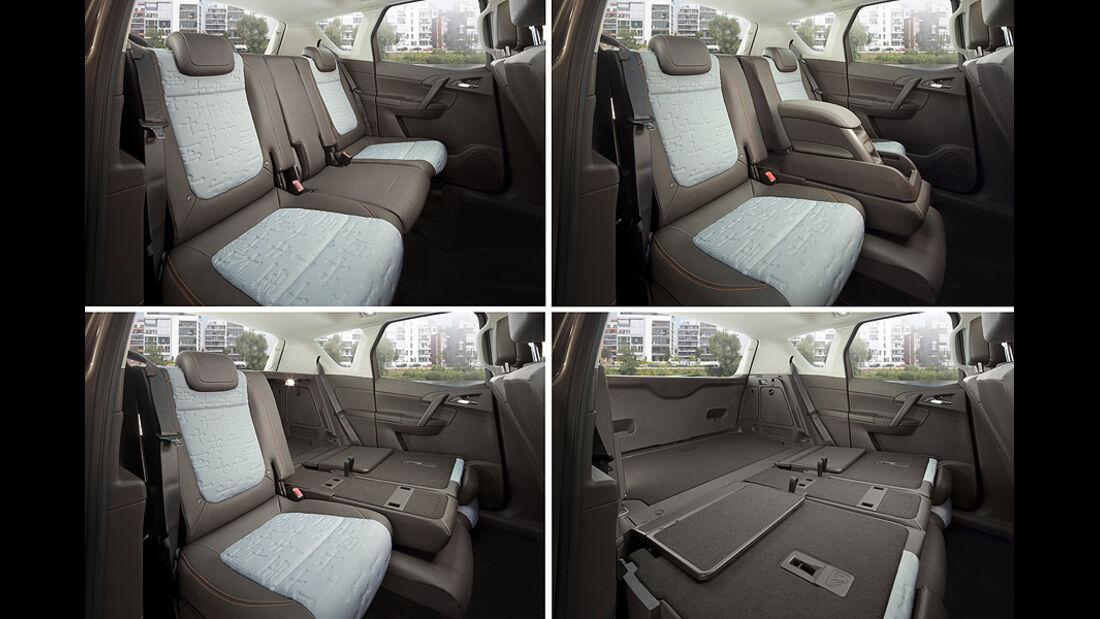 Opel Meriva, umklappbare Sitze