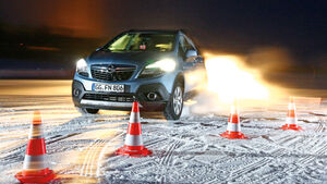 Opel Mokka 1.4 Turbo 4X4, Frontansicht, Testaufbau