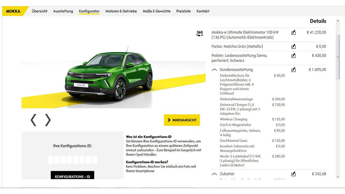 Opel Mokka 2020 Konfigurator