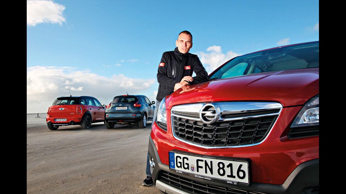 Opel Mokka, Mini Countryman, Nissan Juke, Jörn Thomas