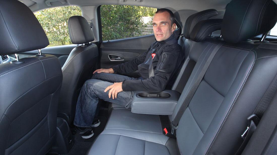 Opel Mokka, Rücksitz, Beinfreiheit