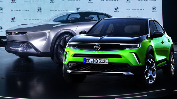 Opel Mokka-e Buick Electra Collage