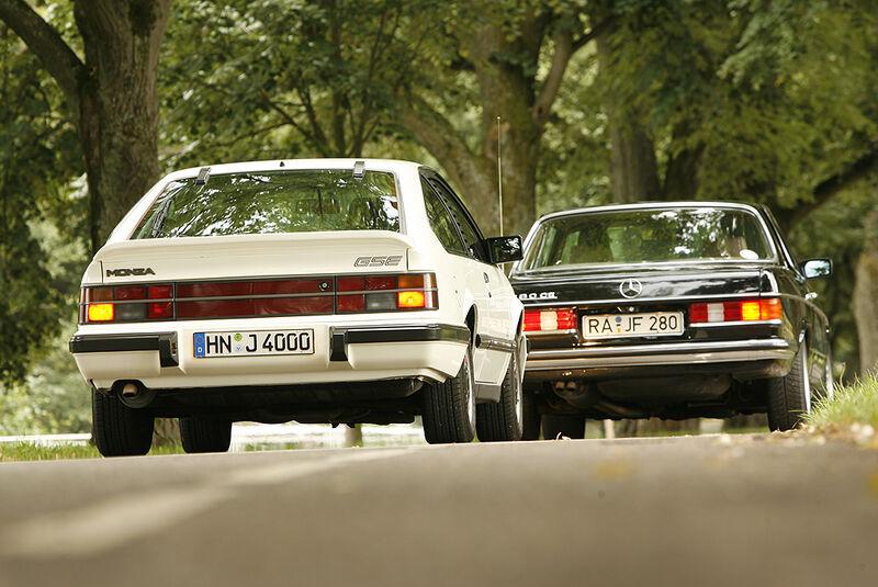 Opel Monza GSE und Mercedes-Benz 280 CE