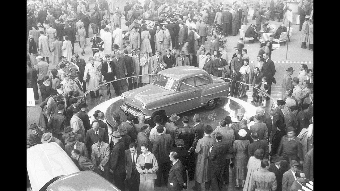 Opel Olympia Rekord auf der IAA 1953 in Frankfurt a. M