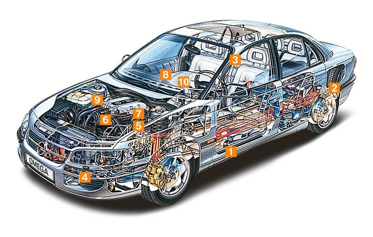 Opel Omega B, Schwachpunkte, Igelbild