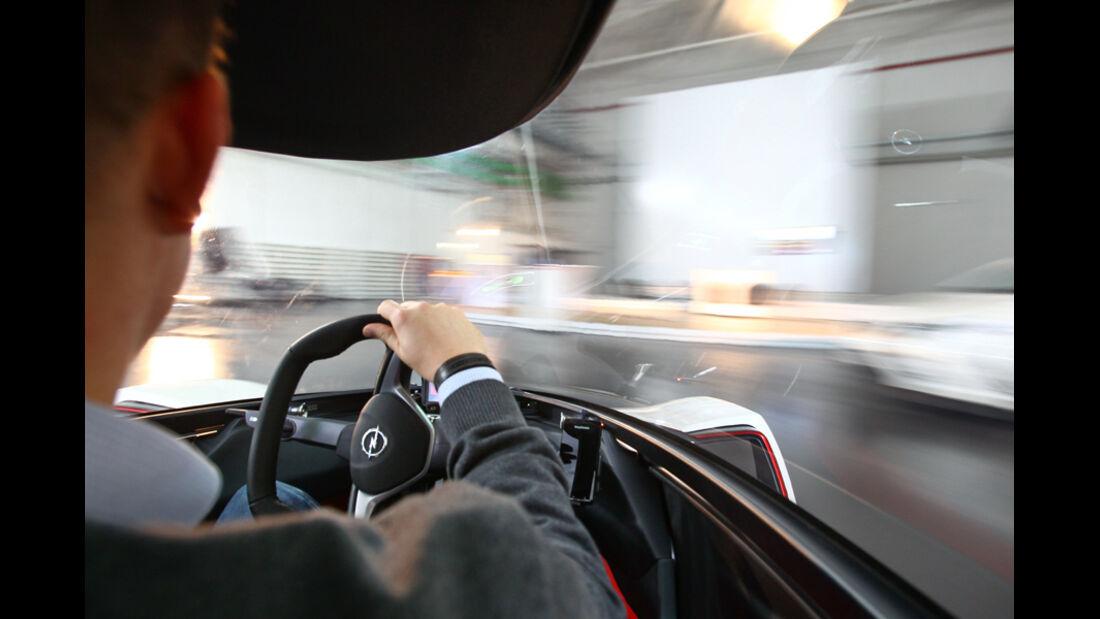 Opel RAK-e, Innenraum