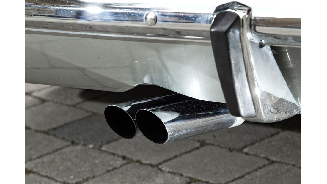 Opel Rekord Sprint, Auspuff, Endrohre