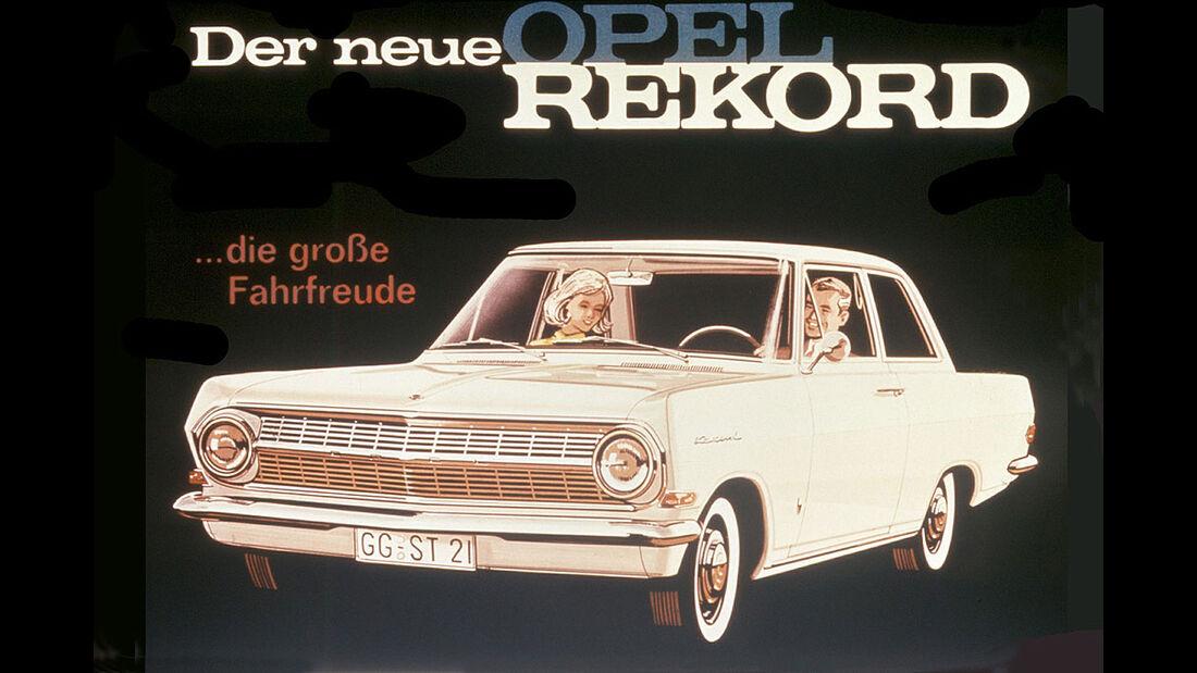 Opel Rekord Werbung