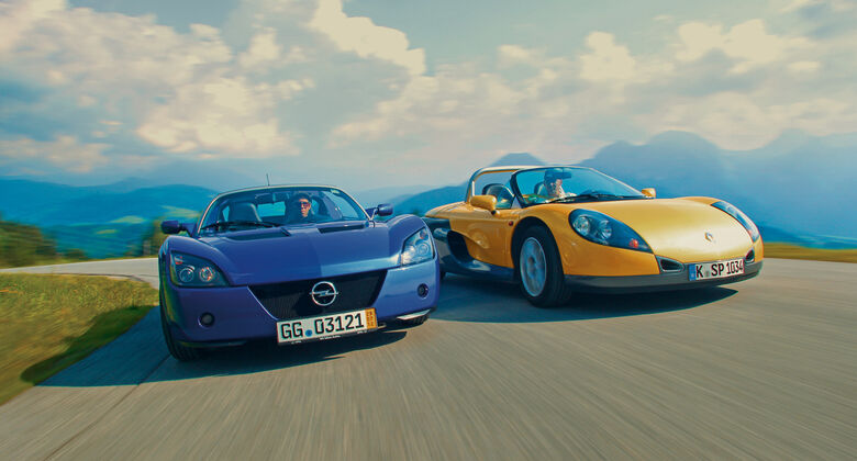 Opel Speedster, Renault Sport Spider, Frontansicht