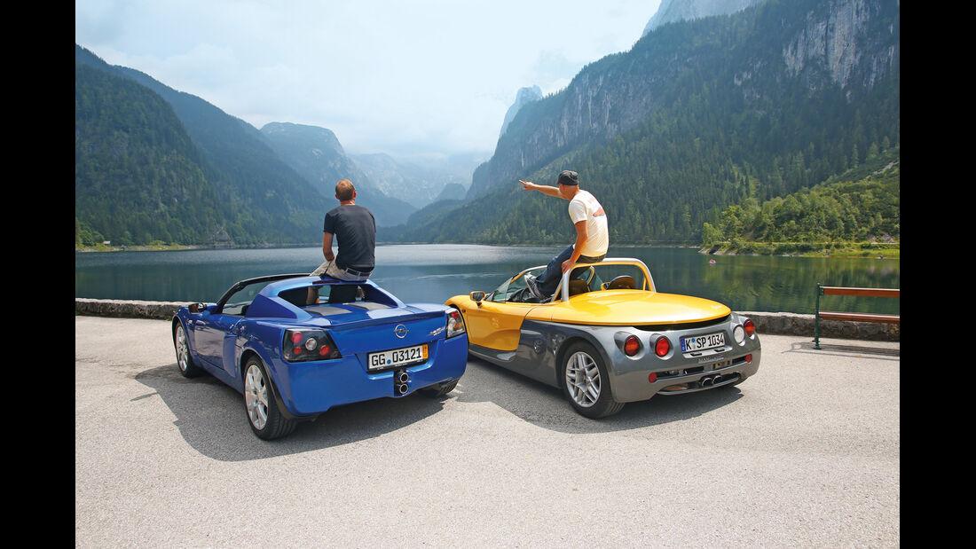 Opel Speedster, Renault Sport Spider, Heckansicht