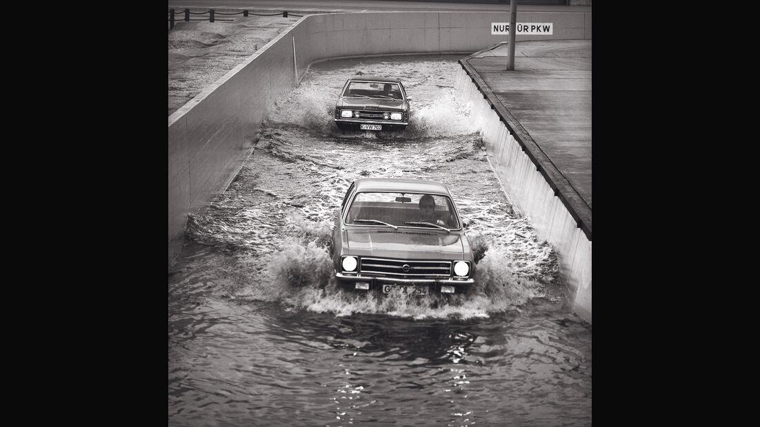 Opel, Wasserstraße, Testfahrt