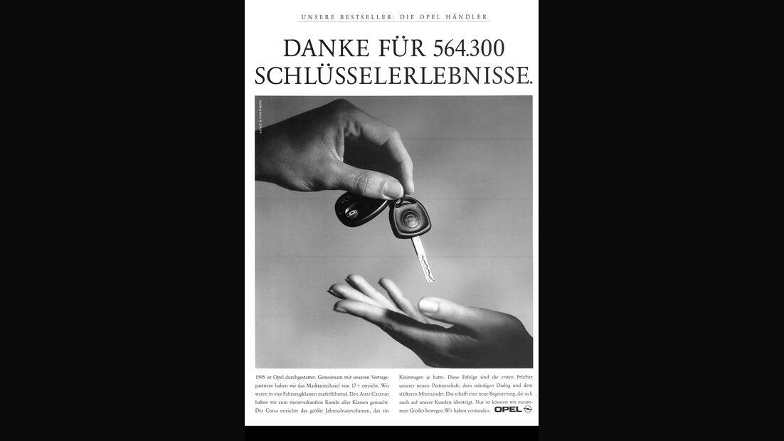 Opel Werbeanzeige, 1996, Schlüssel