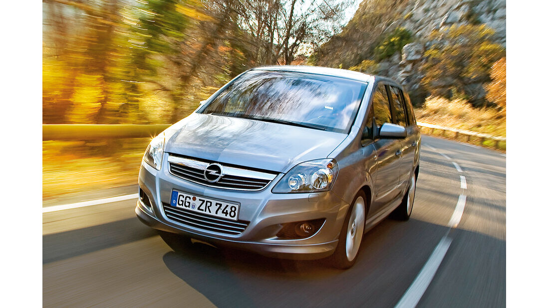 Opel Zafira 1.6 CNG Turbo, Frontansicht