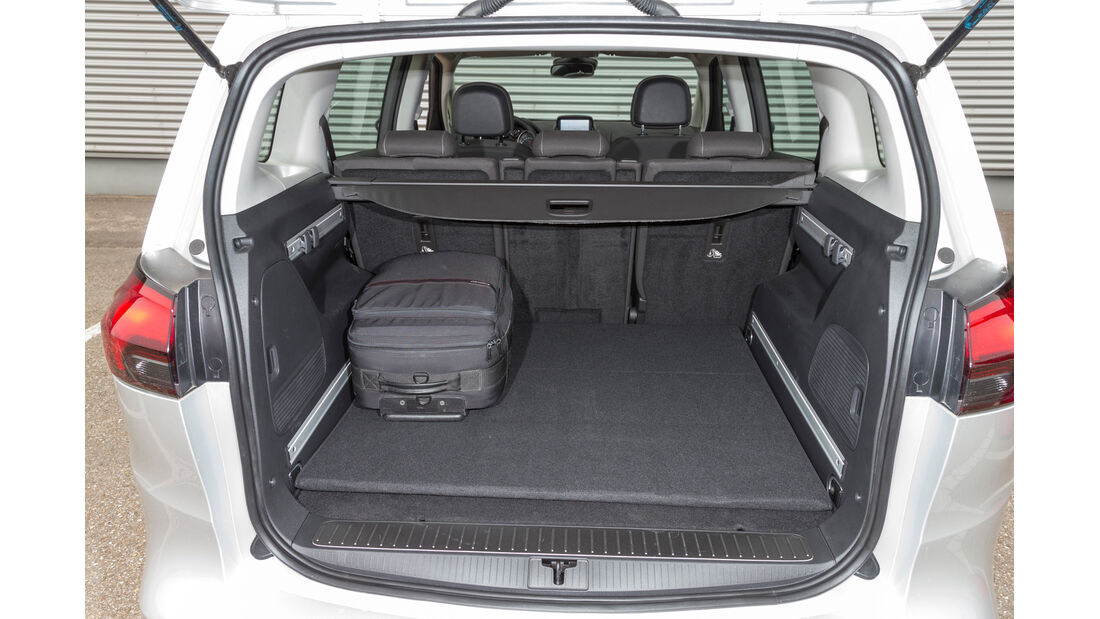 Opel Zafira 1.6 CNG Turbo, Ladefläche, Kofferraum