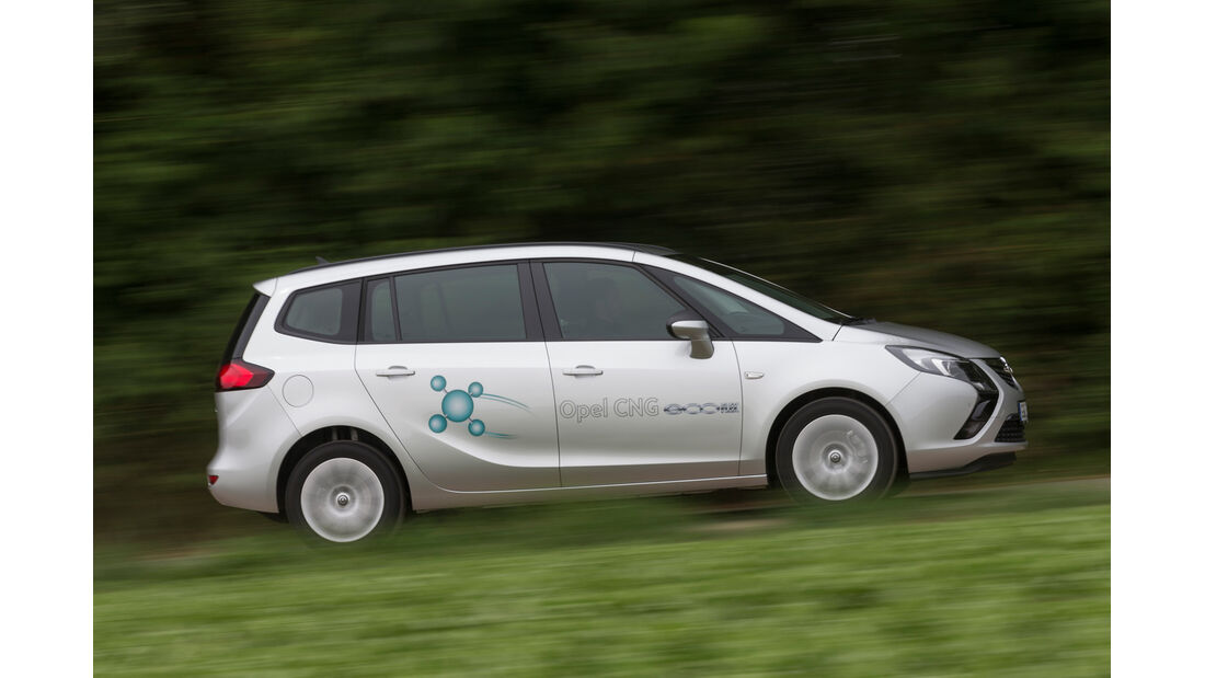 Opel Zafira 1.6 CNG Turbo, Seitenansicht