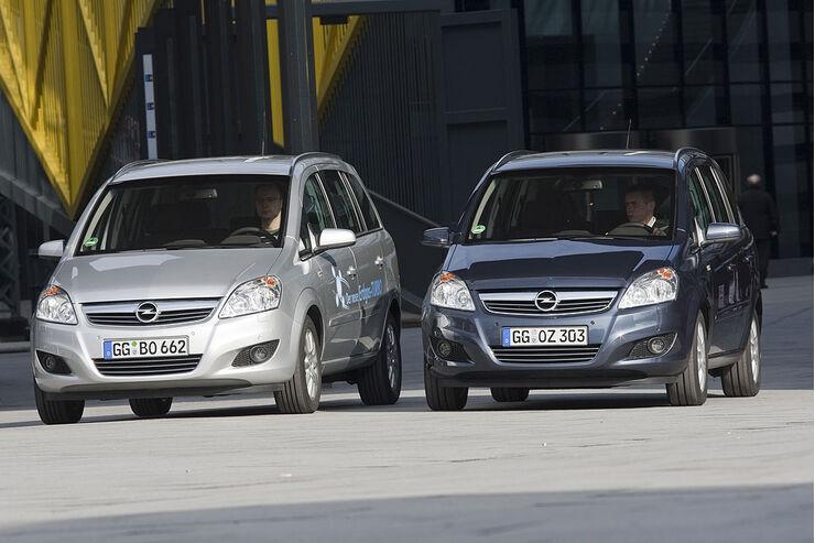 Opel, Zafira, 1.6 CNG, dynamisch, vtest, aumospo0709