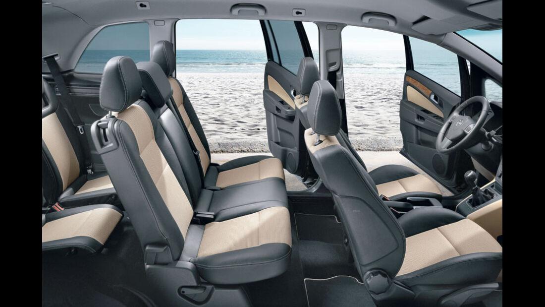 Opel Zafira 1.8, Innenraum