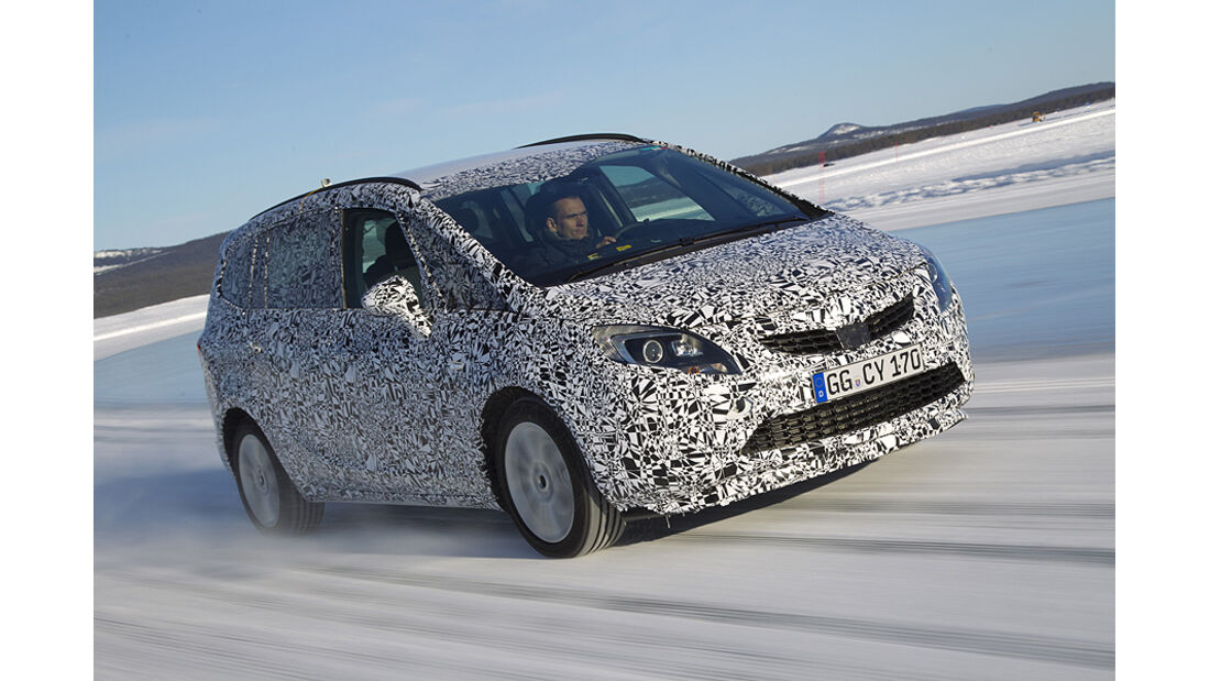 Opel Zafira Erlkönig, Front