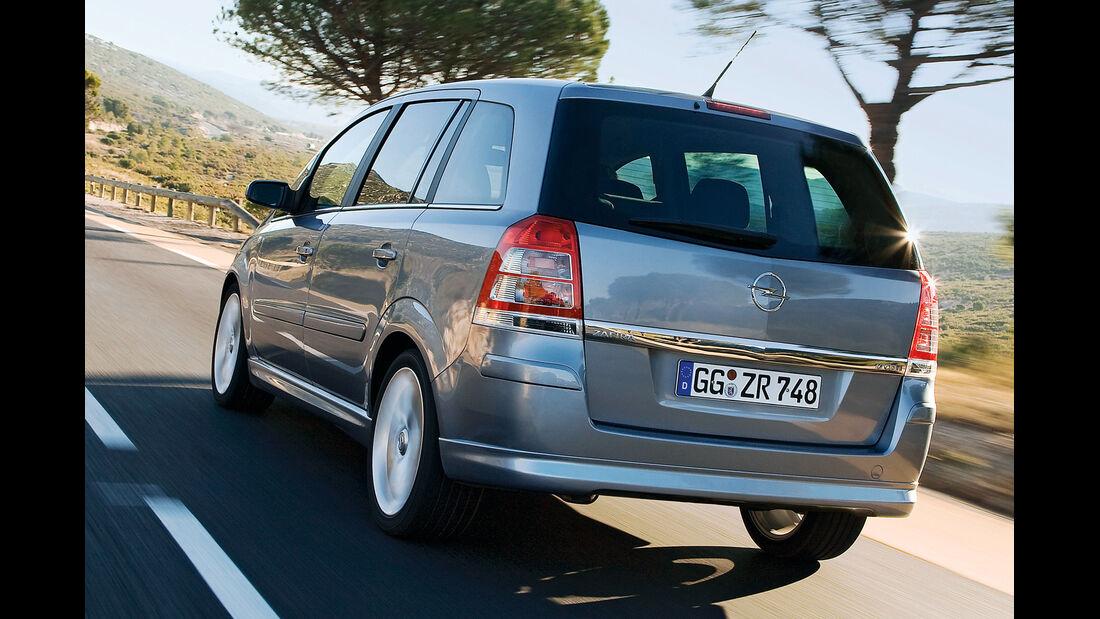 Opel Zafira Family, Heckansicht