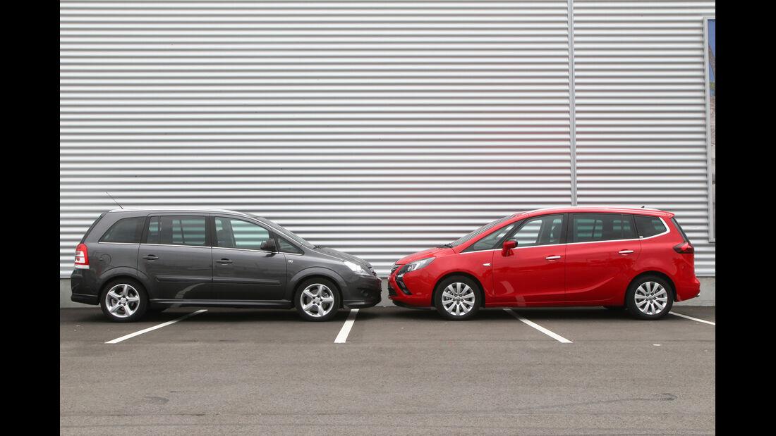 Opel Zafira Family, Opel Zafira Tourer, Seitenansicht