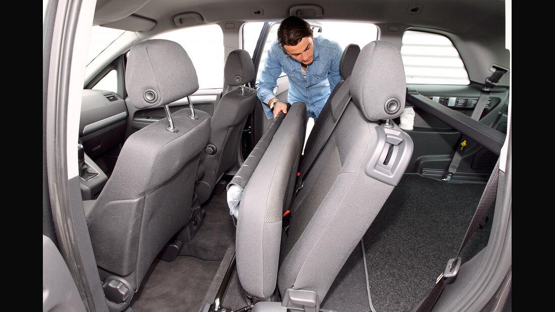 Opel Zafira Family, Sitz, umklappen
