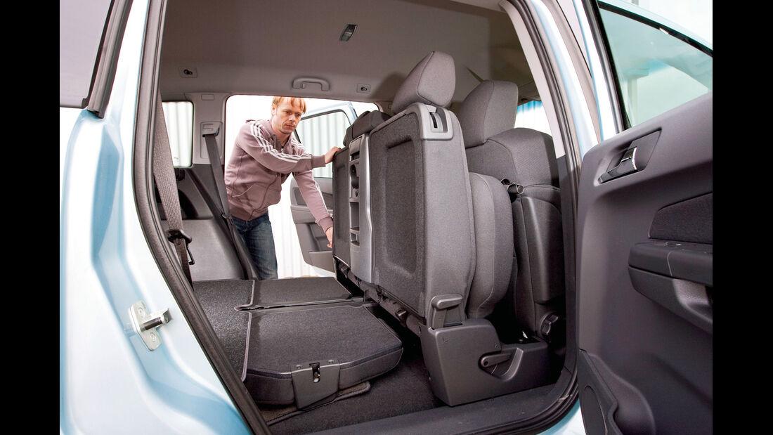 Opel Zafira, Kofferraum