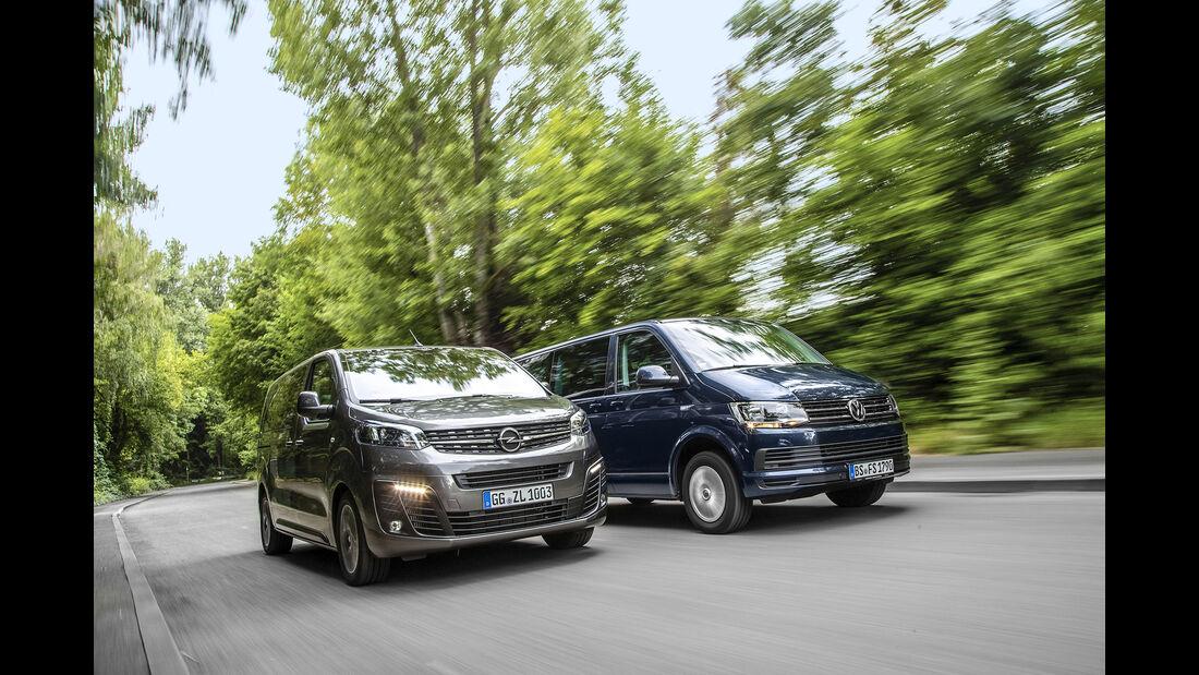 Opel Zafira Life, VW Caravelle, Exterieur
