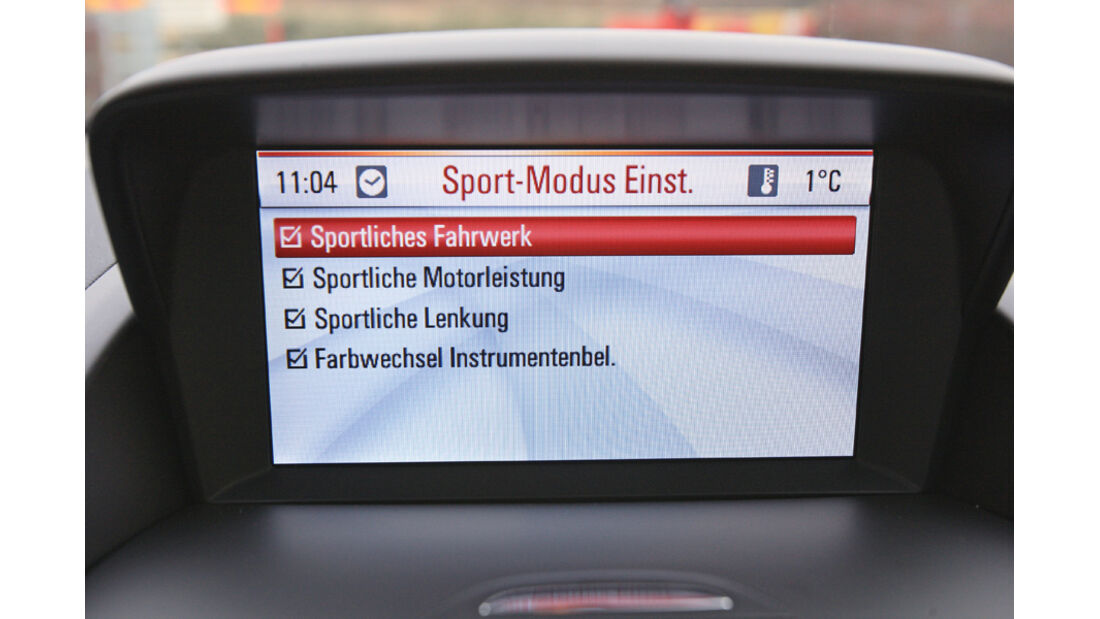 Opel Zafira Tourer 1.4 Turbo, Display