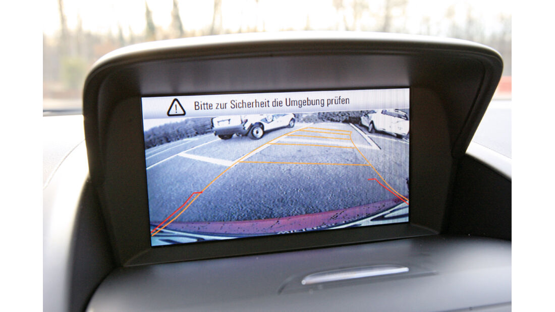 Opel Zafira Tourer 1.4 Turbo, Display Rückfahrkamera