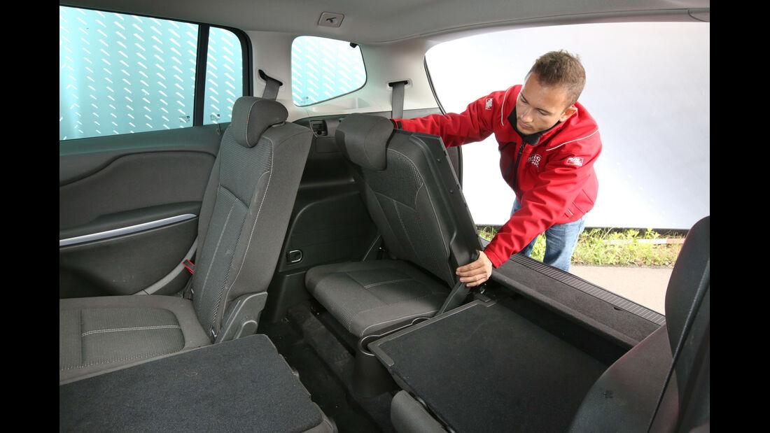 Opel Zafira Tourer 1.6 CDTI, Fondsitze, Umklappen