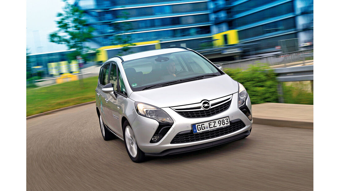 Opel Zafira Tourer 1.6 CNG Turbo, Frontansicht