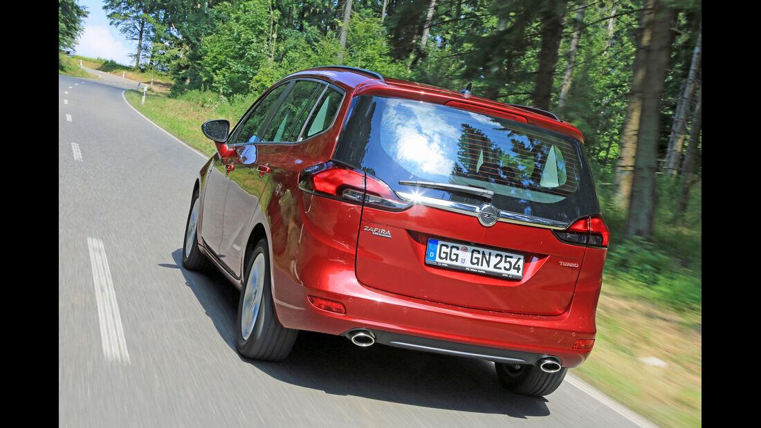 Opel Zafira Tourer 1.6 Turbo, Heckansicht