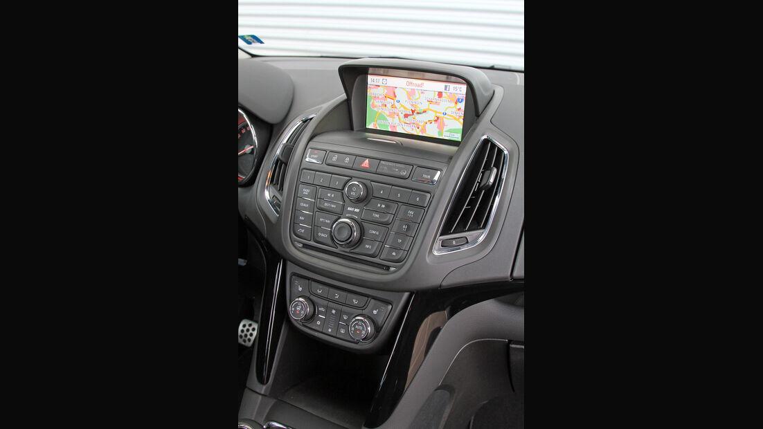 Opel Zafira Tourer 2.0 Biturbo CDTi Sport, Mittelkonsole, Navi