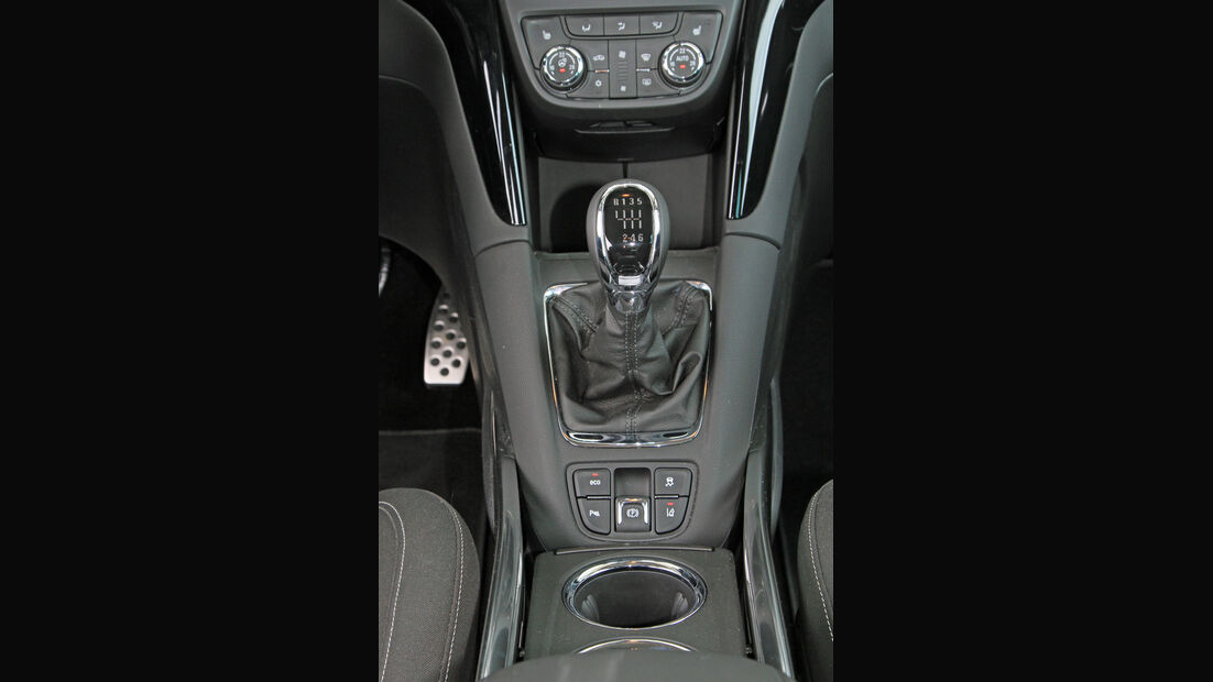 Opel Zafira Tourer 2.0 Biturbo CDTi Sport, Mittelkonsole, Schalthebel
