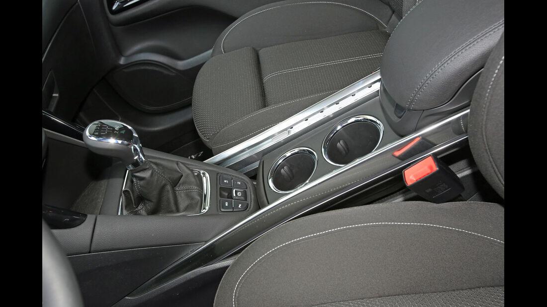 Opel Zafira Tourer 2.0 Biturbo CDTi Sport, Schalthebel, Getränkehalter