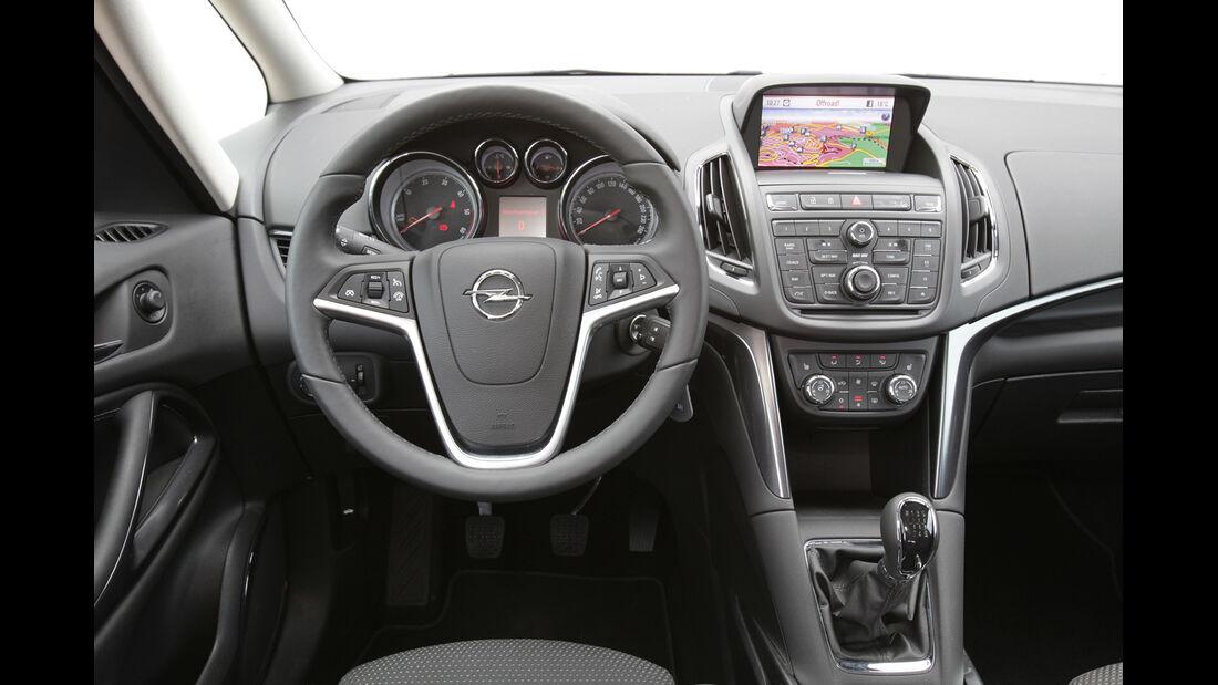 Opel Zafira Tourer 2.0 CDTi, Cockpit, Lenkrad