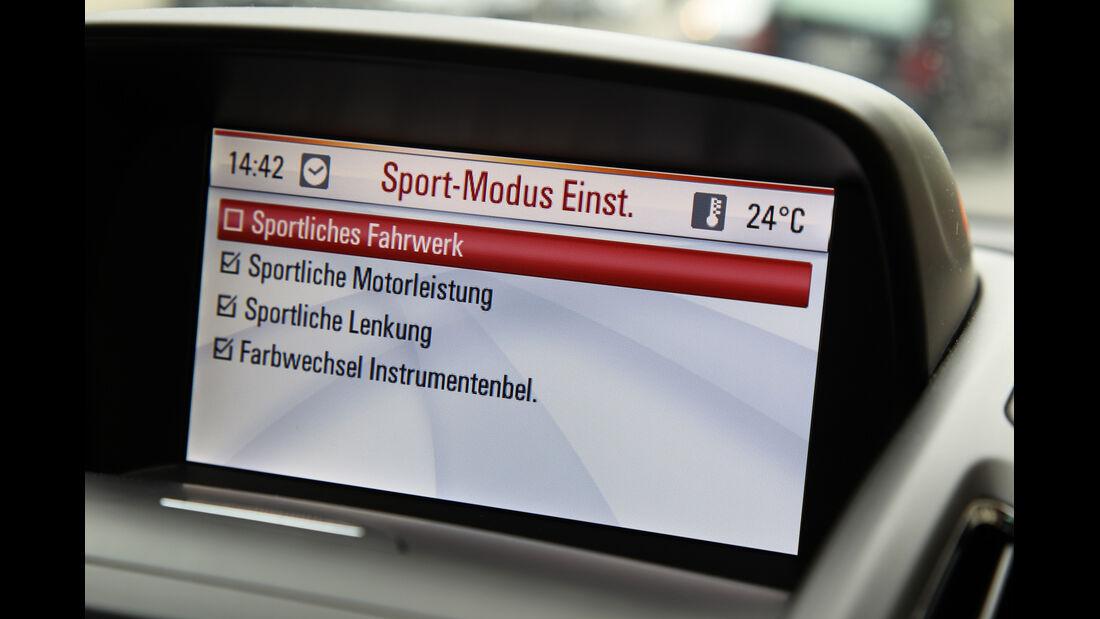 Opel Zafira Tourer 2.0 CDTi, Display