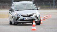 Opel Zafira Tourer 2.0 CDTi Ecoflex Edition, Slalom, Frontansicht