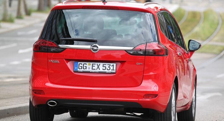 Opel Zafira Tourer 2.0 CDTi, Heckansicht