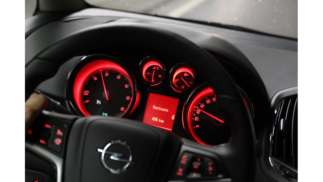 Opel Zafira Tourer 2.0 CDTi, Rundinstrumente